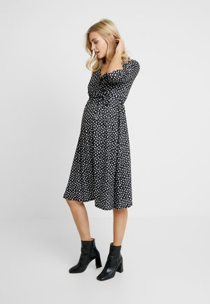 ANIMAL MIDI WRAP DRESS - Jerseykjole - multi-coloured