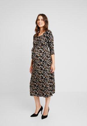 FLORAL PRINT MOLLY GRAZER DRESS - Vestito lungo - black