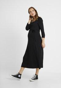 Dorothy Perkins Maternity - MOLLY GRAZER DRESS - Žerzejové šaty - black - 0