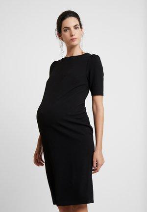 SLEEVE BODYCON DRESS - Pouzdrové šaty - black