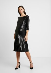 Dorothy Perkins Maternity - SEQUIN MIDI - Cocktail dress / Party dress - black - 0