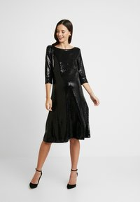 Dorothy Perkins Maternity - SEQUIN MIDI - Cocktail dress / Party dress - black - 2