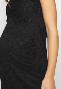 Dorothy Perkins Maternity - V NECK BODYCON DRESS - Denní šaty - black - 4