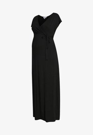 PLAIN WRAP I DRESS - Jerseykjole - black
