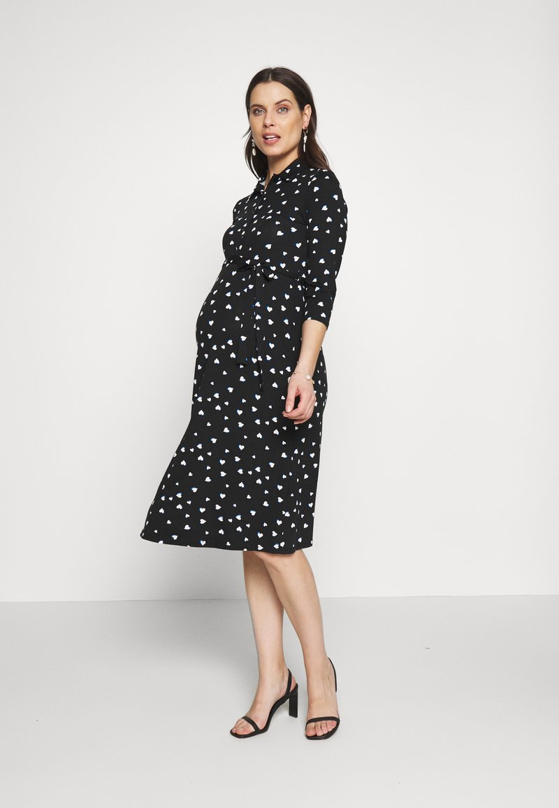 Dorothy Perkins Maternity - HEART DRESS - Žerzejové šaty - black