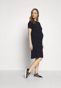 Dorothy Perkins Maternity - MATERNITY PONTELLE FIT AND FLARE DRESS - Strikkjoler - navy - 1