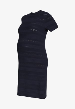 MATERNITY PONTELLE FIT AND FLARE DRESS - Vestido de punto - navy