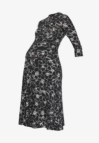 Dorothy Perkins Maternity - SKETCH FLORAL DRESS - Jerseykjoler - black - 4