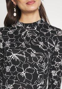 Dorothy Perkins Maternity - SKETCH FLORAL DRESS - Jerseykjoler - black - 5