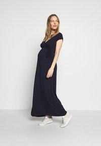 Dorothy Perkins Maternity - MATERNITY PLAIN MAXI DRESS - Žerzejové šaty - navy - 1