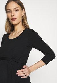 Dorothy Perkins Maternity - MATERNITY BODYCON BELTED DRESS - Žerzejové šaty - black - 3