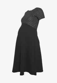 Dorothy Perkins Maternity - MATERNITY SPOT DRESS - Vestido ligero - black - 5