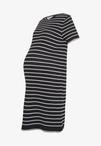 Dorothy Perkins Maternity - STRIPE DRESS - Sukienka dzianinowa - black - 4