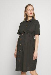 Dorothy Perkins Maternity - LINEN SHIRT DRESS - Sukienka koszulowa - khaki - 0