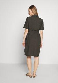 Dorothy Perkins Maternity - LINEN SHIRT DRESS - Sukienka koszulowa - khaki - 2