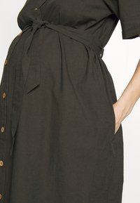 Dorothy Perkins Maternity - LINEN SHIRT DRESS - Sukienka koszulowa - khaki - 4