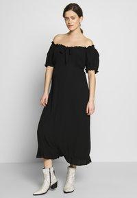 Dorothy Perkins Maternity - MATERNITY MILKMAID CRINKLE DRESS - Jerseykjoler - black - 0