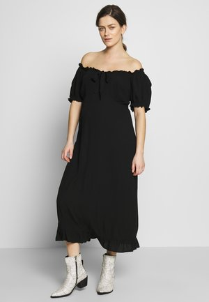 MATERNITY MILKMAID CRINKLE DRESS - Sukienka z dżerseju - black