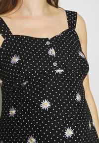 Dorothy Perkins Maternity - MATERNITY DAISY EMBROIDERED DRESS - Vestido ligero - black - 5
