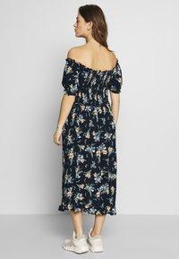 Dorothy Perkins Maternity - MATERNITY FLORAL MILKMAID CRINKLE DRESS - Vestido ligero - navy - 2