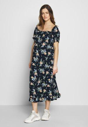 MATERNITY FLORAL MILKMAID CRINKLE DRESS - Žerzejové šaty - navy