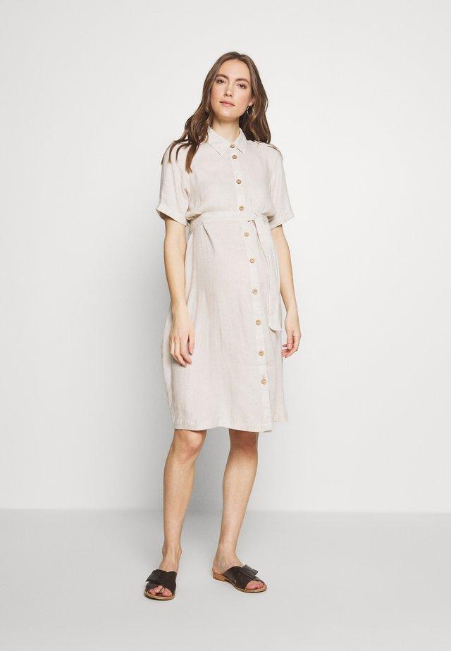 SHIRT DRESS - Shirt dress - stone