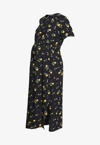 Dorothy Perkins Maternity - FLORAL SHIRRED WAIST MIDI DRESS - Denní šaty - sunshine yellow - 0