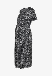 Dorothy Perkins Maternity - FLORAL SHIRRED WAIST MIDI DRESS - Sukienka letnia - black - 0