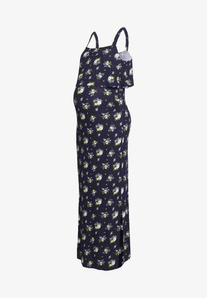 MATERNITY FLORAL SLEEVELESS LAYERED DRESS - Sukienka z dżerseju - navy