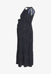 Dorothy Perkins Maternity - SPOT HALTER MAXI DRESS - Robe en jersey - multi coloured/navy - 0