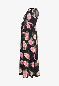 Dorothy Perkins Maternity - FLORAL HALTER DRESS - Maxi šaty - black - 0