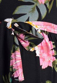 Dorothy Perkins Maternity - FLORAL HALTER DRESS - Maxi šaty - black - 2
