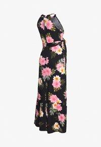 Dorothy Perkins Maternity - FLORAL HALTER DRESS - Maxi šaty - black - 1