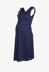 Dorothy Perkins Maternity - OCCASION FIT AND FLARE DRESS - Koktejlové šaty/ šaty na párty - navy - 0