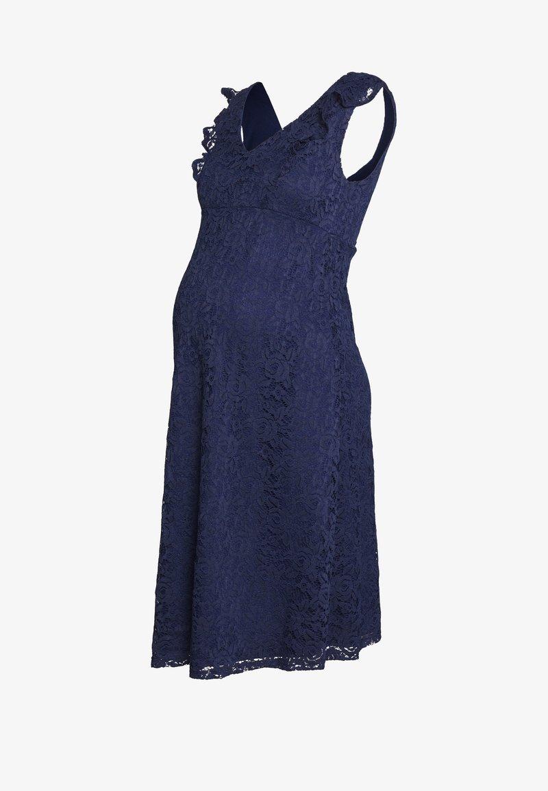 Dorothy Perkins Maternity - OCCASION FIT AND FLARE DRESS - Koktejlové šaty/ šaty na párty - navy