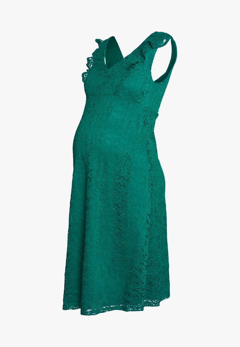 Dorothy Perkins Maternity - OCCASION FIT AND FLARE DRESS - Koktejlové šaty / šaty na párty - green