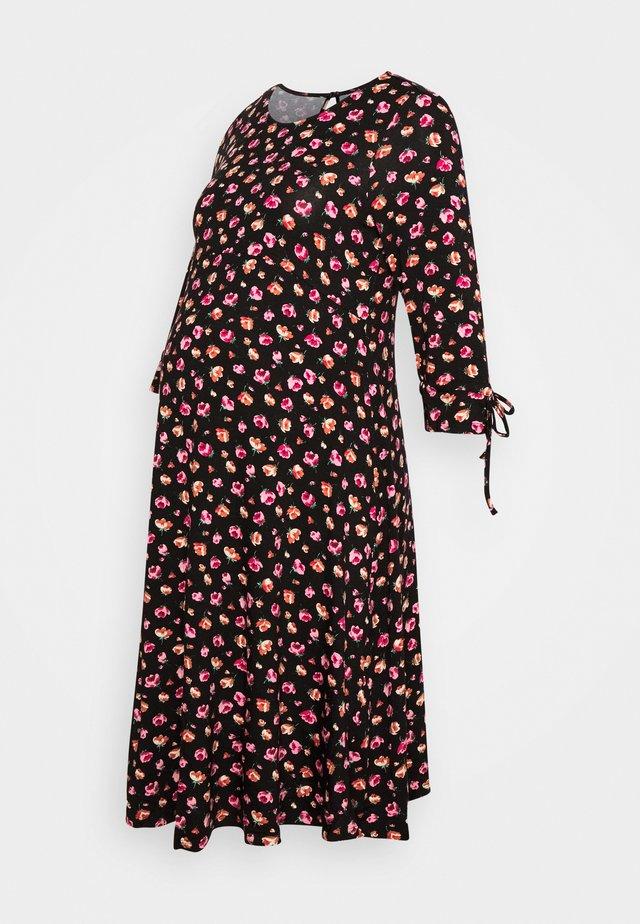 DRESS - Jerseyjurk - black/pink