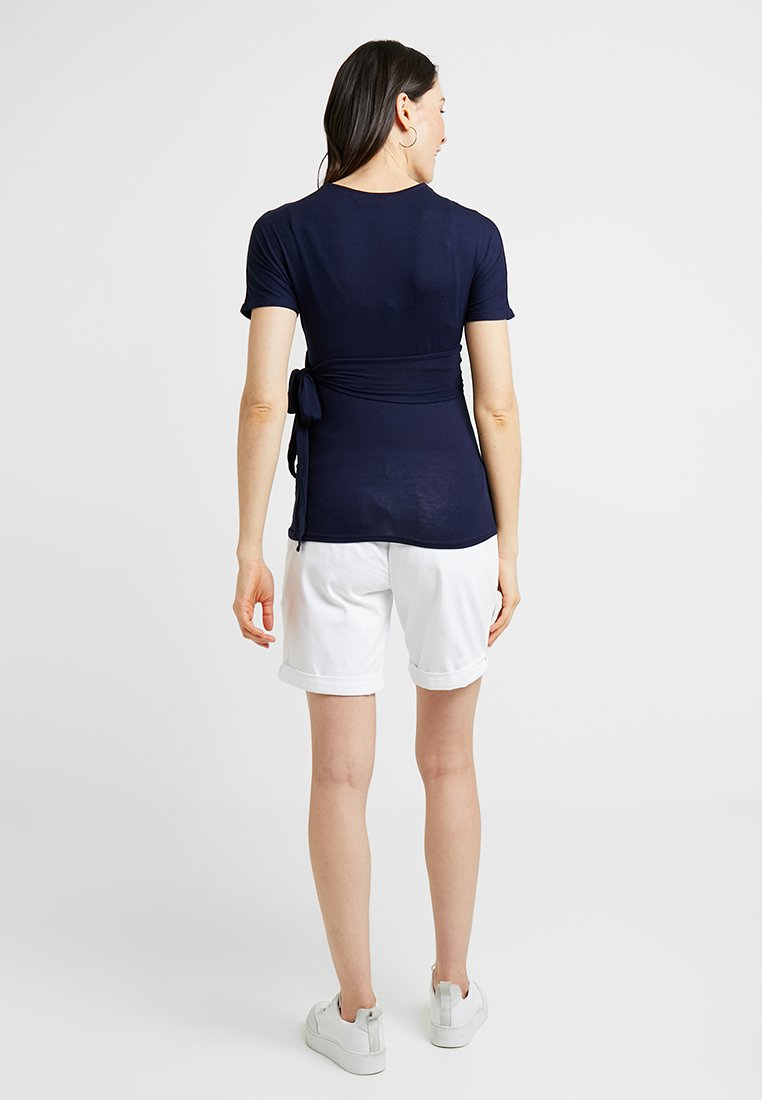 Sleeve Navy Maternity À Manches Longues Perkins shirt Dorothy Short WrapT Balet 76ygbf