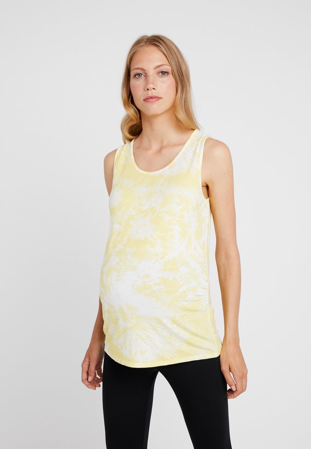 TIE DYE VEST - Top - sunshine yellow