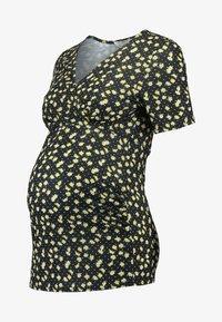 Dorothy Perkins Maternity - BALLET WRAP NURSING - T-shirts print - black - 4