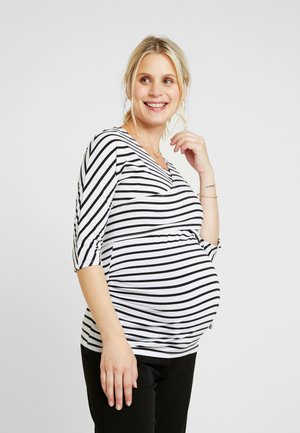 BALET WRAP NURSING TOP STRIPE - Camiseta de manga larga - navy