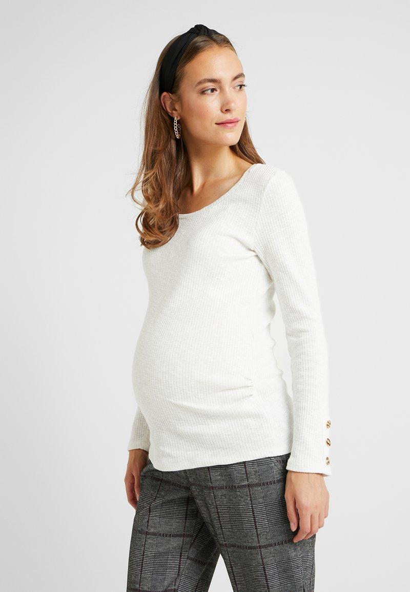 Dorothy Perkins Maternity - BUTTON SLEEVE - Langarmshirt - cream