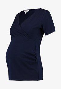 Dorothy Perkins Maternity - WRAP NUSING - T-shirt basic - navy - 4