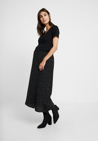 Dorothy Perkins Maternity - WRAP NUSING - Jednoduché triko - black - 1