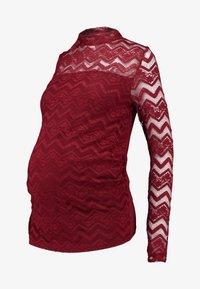 Dorothy Perkins Maternity - ZIG ZAG LACE LONG SLEEVE - Långärmad tröja - red - 5