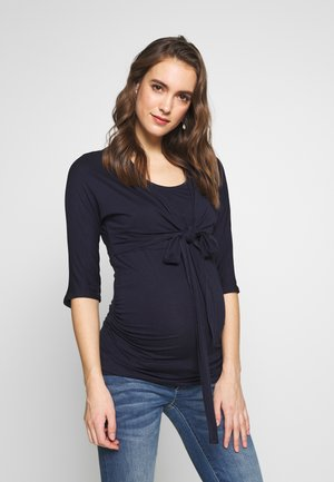 PLAIN SLEEVE NURSING BALLET WRAP - Camiseta de manga larga - navy