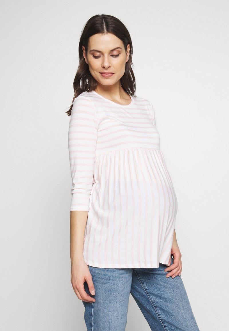 Dorothy Perkins Maternity - STRIPE SMOCK - Langarmshirt - blush
