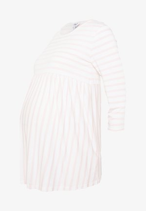 STRIPE SMOCK - Camiseta de manga larga - blush