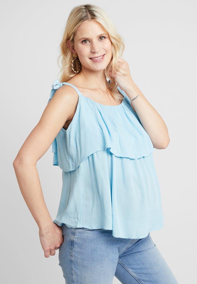 Dorothy Perkins Maternity - NURSING LAYERED CRINKLE CAMI - Bluse - blue