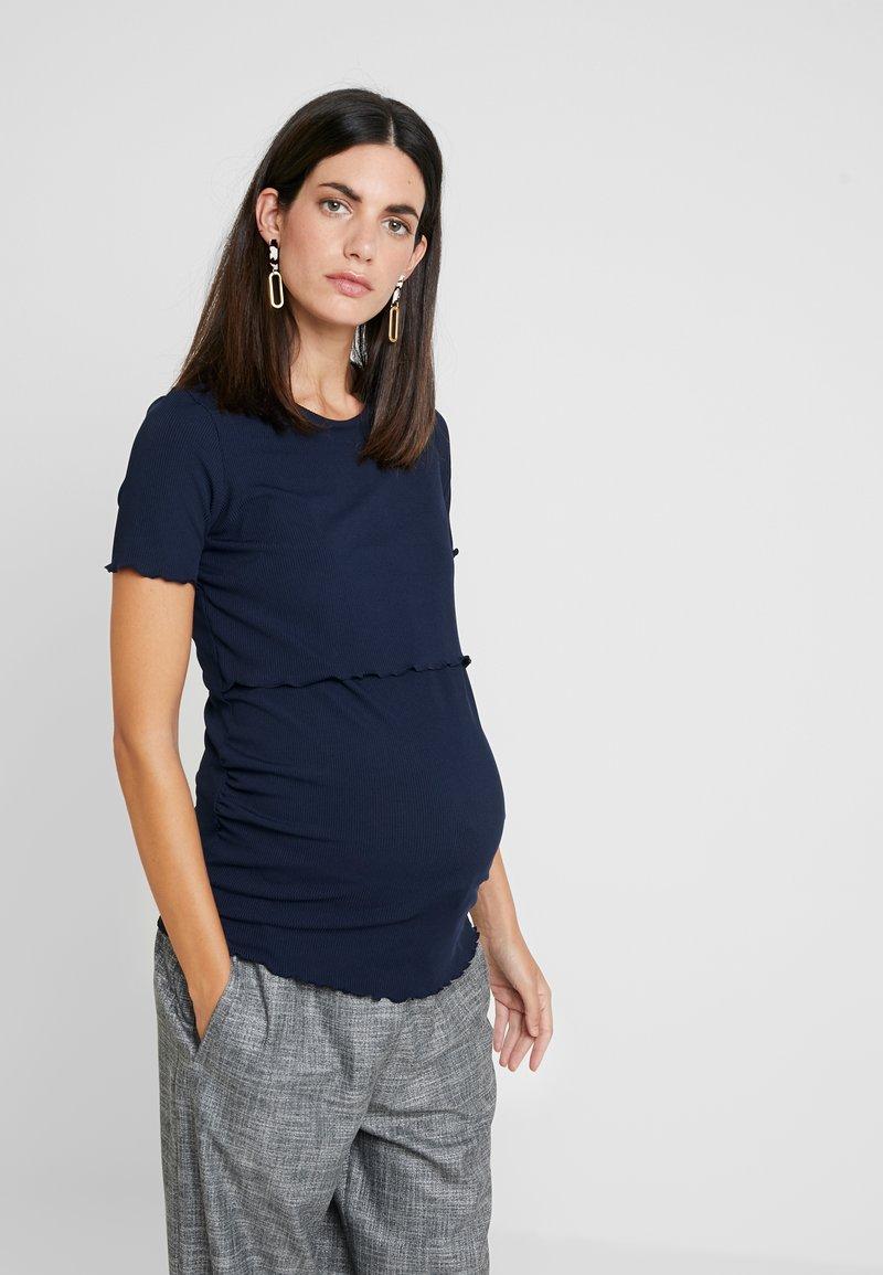 Dorothy Perkins Maternity - LAYERED NURSING TEE - T-shirt print - navy